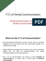 7 C's of Verbal Communication
