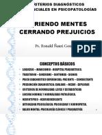 CRITERIOS DIAGNOSTICOS DIFERENCIALES EN PSICOPATOLOGIAS.odp