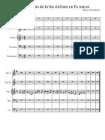 V movimiento de la 6ta sinfonia en Fa mayor melodia principal