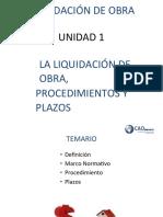 LIQUIDACIÓN DE OBRA