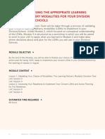 LDM1 Module 3 Choosing the Appropriate LDMs