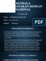 Kendala Melaksanakan Disiplin Nasional