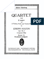 String Quartet No 8 in E, Hob 8 (Score) by J. Haydn