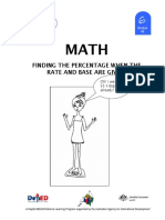 Math 6 DLP 46 - finding the percentage when the rate and base are given