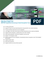 DCS-F02TH Temperature Screening & Face Recognition Terminal-datasheet