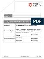 2 - BSBMGT517(SV) - Manage Operational Plan