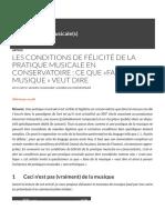 Les conditions de félicité de la pratique musicale en conservatoire - ce que «faire de la musique » veut dire | Socialisation(s) musicale(s).pdf