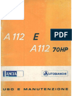 Autobianchi A112E A112 70HP User Manual 1977