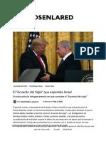 """El """"Acuerdo Del Siglo"""" Que Esperaba Israel"""
