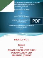 A PRESENTATION ON SUMMER TRAINING AT ASSAM ELECTRICITY GRID CORPORATION LTD,