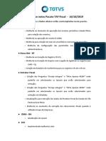 Release notes TAF - Fiscal - Versao 12 - Janeiro_2020