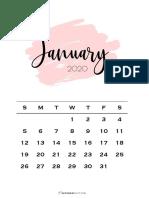 Monthly-Calendar-Pink-Brush-2020-All-Months-PDF-SaturdayGift