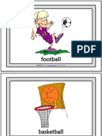 sports vocabulary esl printable flashcards with words for kids