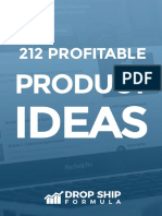 212 Profitable Product Ideas