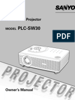 Sanyo Multimedia Projector PLC-SW30 (751580)