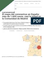 Coronavirus - El mapa del coronavirus en España_ más de 1.600 casos, casi la mitad en la Comunidad de Madrid - RTVE.es