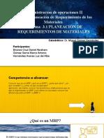 3.1 PLANEACIÓN DE REQUERIMIENTOS DE MATERIALES 2.0