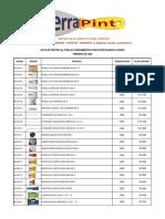 Lista de precios de mercancías HerraPint Febrero 2020