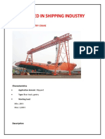 Cranes used in Shipping Industry (Ports & Shipyards)