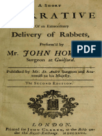 A Short Narrative Of an Extraordinary Delivery of Rabbets, Perform'd by Mr. John
