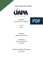 Tarea I de Metodología de la Investigación I.docx