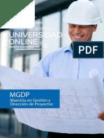 Brochure - Maestría en Gestión y Dirección de Proyectos - Universidad Benito Juarez