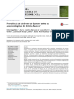 Prevalência Burnout em Anestesiologia DF