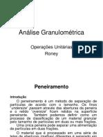 Aula 17 Amálise Granulométrica Peneiração