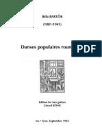 BARTÒK, Béla • Danses populaires roumaines (edited by Gérard Reyne) (2 guitars music score)