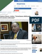 """Ántero flores-aráoz_ """"estaríamos abdicando de nuestra soberanía"""" - diario expresodiario expreso"""