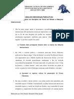 2o - Teoria de estado e Relacoes Internacionais