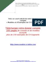Ex Modele Cv Free