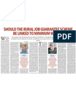 Business Standard - 13 Jan 2011 - Should the Rural Job Guarantee Scheme Be Linked to Minimum Wages