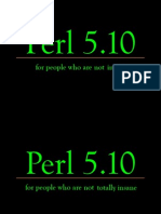 Perl 510 for People Who Arent Totally Insane 4609