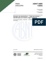 ABNT NBR 15693-Ensaios não destrutivos-Teste por pontos- 2013