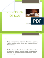 FUNCTIONS & classification OF LAW 13.7.18