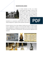 DESCRIPCION DEL MUSEO nacional de tokio