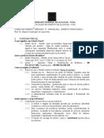 1ª AULA - ESTADO FISCAL