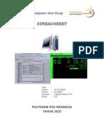Makalah Komputer Tentang Spreadsheet