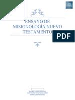 ensayo de MIsionología nuevo TESTAMENTO