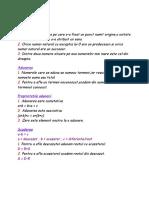 Definitii ale unor elemente aritmetice