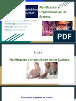 Planificacion y Organizacion de los Eventos.
