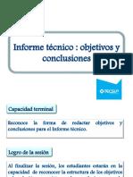 TEOE 13- INFORME TÉCNICO-OBJETIVOS Y CONCLUSIONES