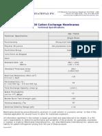 Membranes International Cation