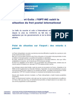2020 07 22 CP-OPT-NC Difficulté d'acheminement du fret postal