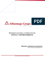 MATEMÁTICAS PARA LA COMPUTACIÓN CAPÍTULO 1. SISTEMAS NUMÉRICOS
