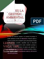 19. Qué es la gestión ambiental