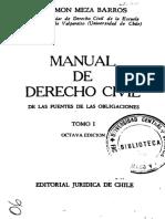 MANUAL DE DERECHO CIVIL - DE LAS FUENTES DE LAS OBLIGACIONES - TOMO I - RAMON MEZA BARROS (2)