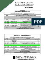 Programa i Encuentro de Historia Unsa 2011