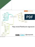 Mapa mental Planificación Negociación